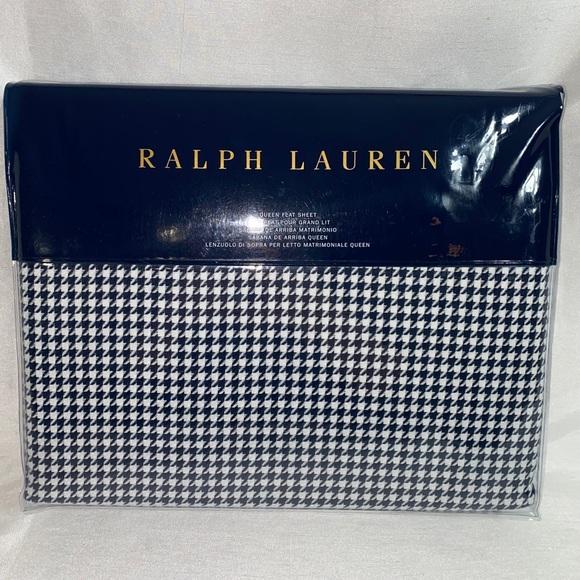 Ralph Lauren Queen flat sheet new houndstooth